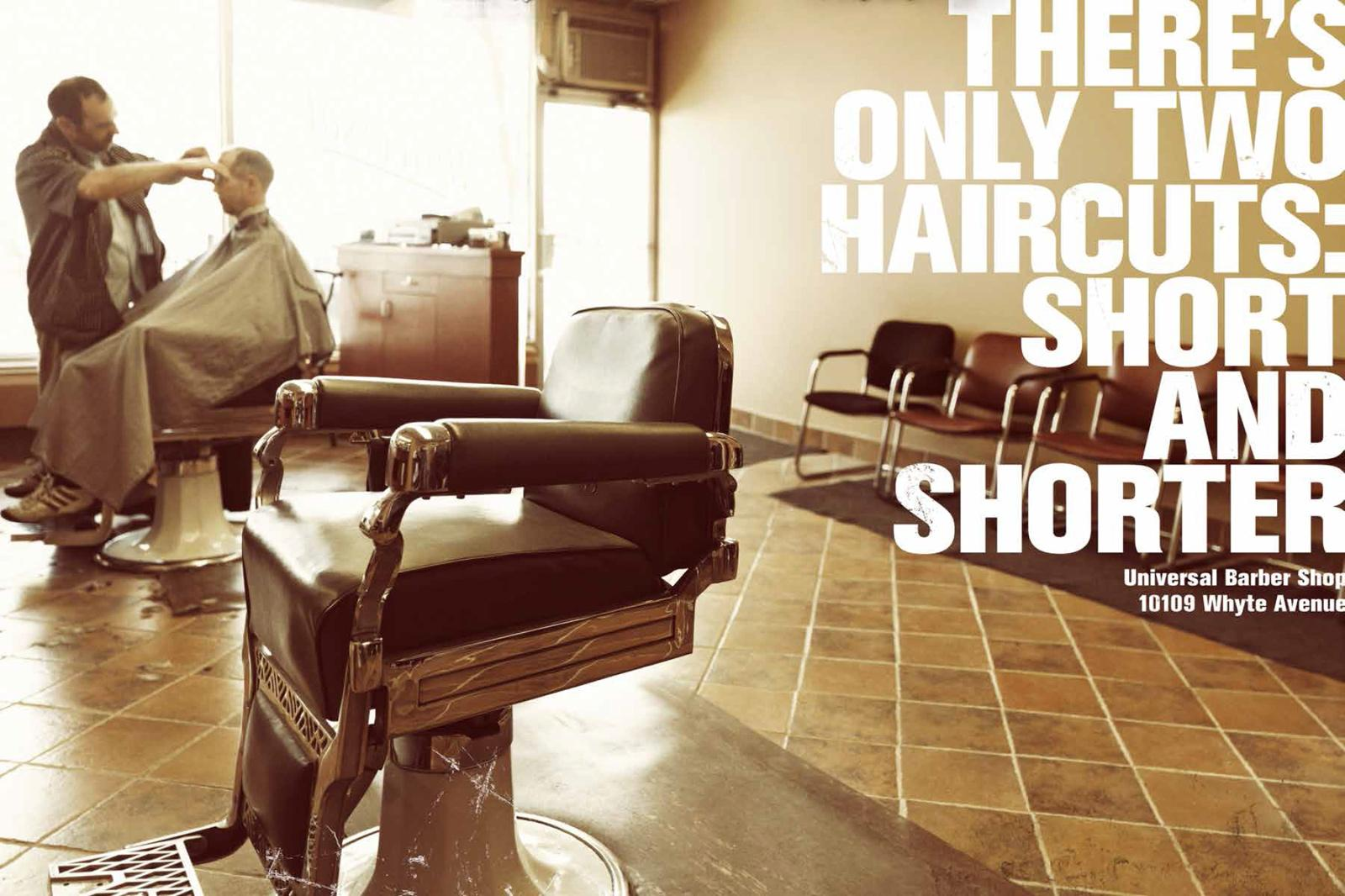 Universal Barber Shop Print Ad -  Short