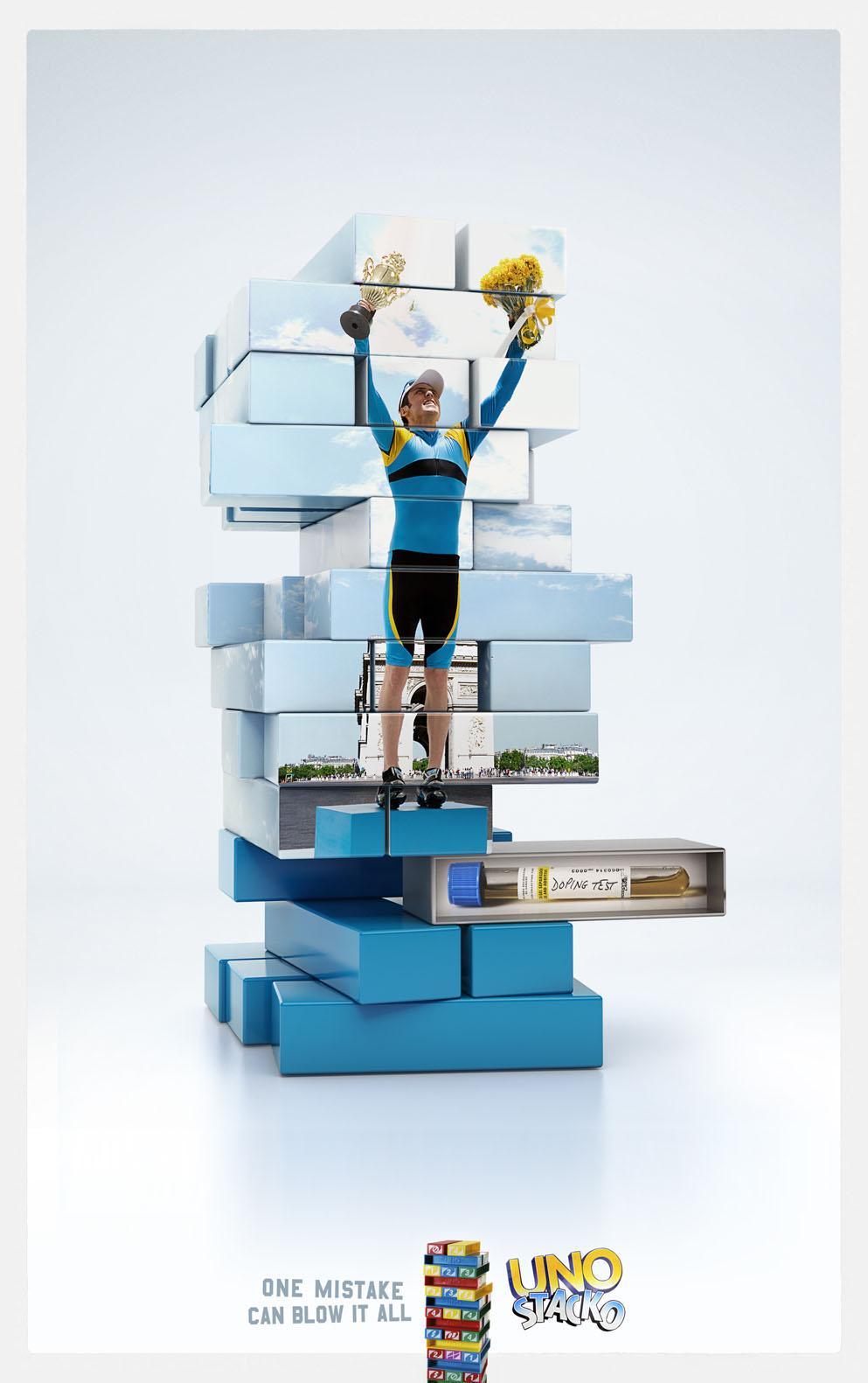 Uno Stacko Print Ad -  Cyclist