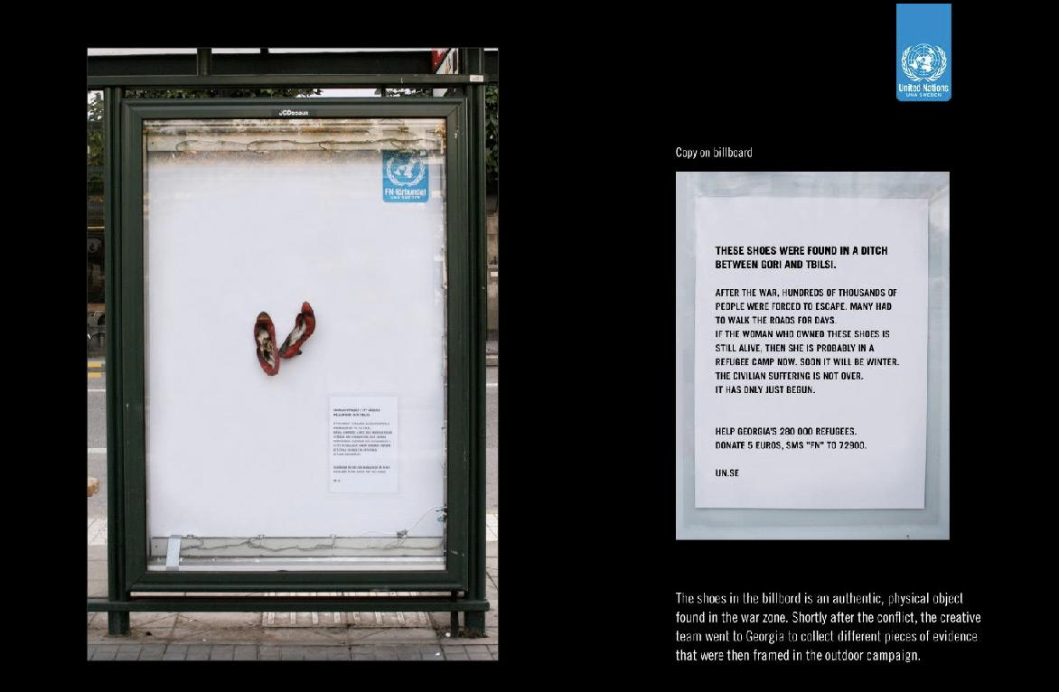 United Nations Outdoor Ad -  Shoes