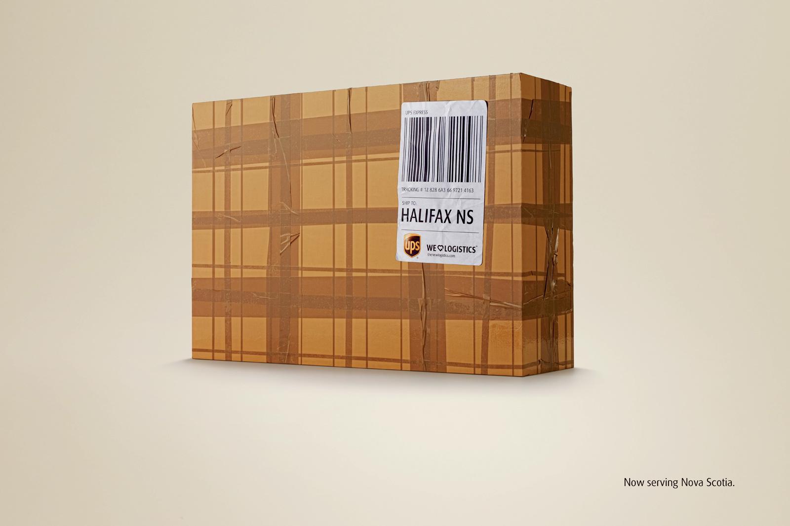 UPS Print Ad -  Tartan Box