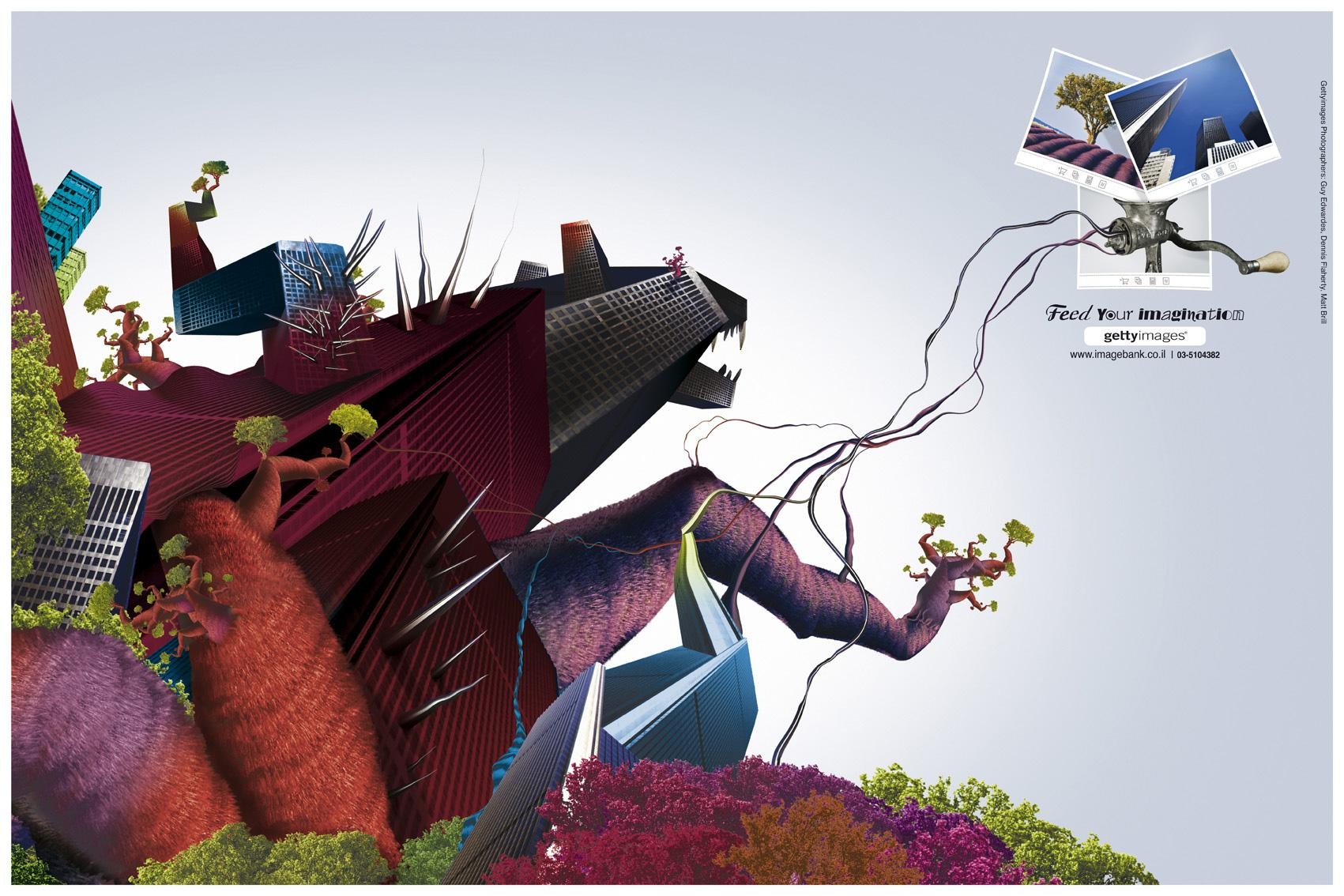 Getty Images Print Ad -  Urban monster