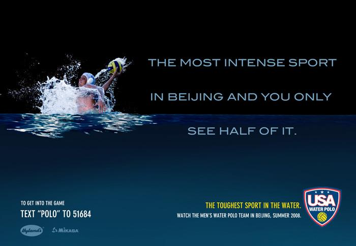 USA Water Polo Print Ad -  Intense