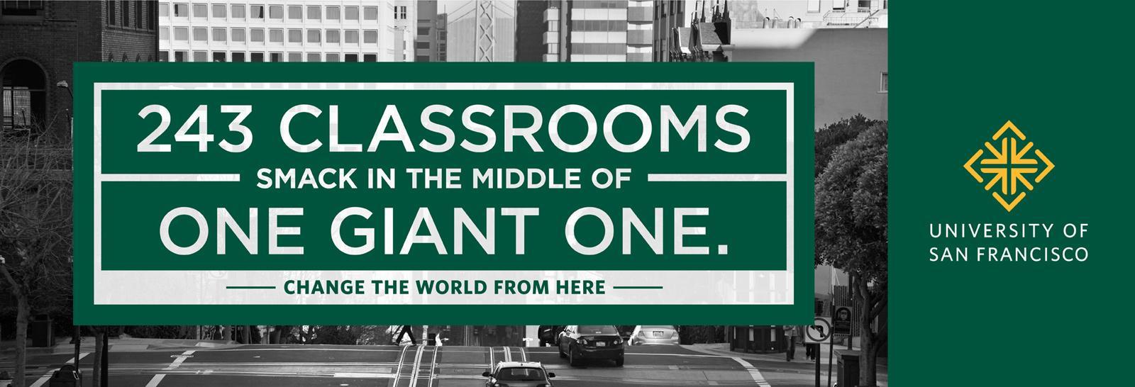 University of San Francisco Print Ad -  Classroom
