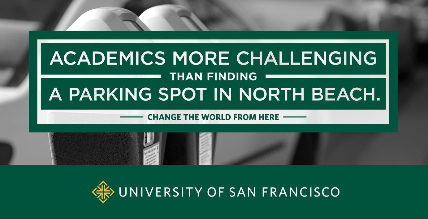 University of San Francisco Print Ad -  Parking spot