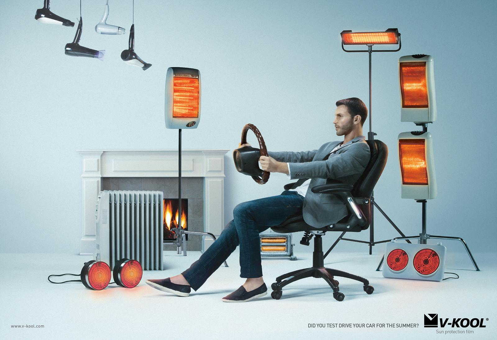 V-Kool Print Ad -  Man
