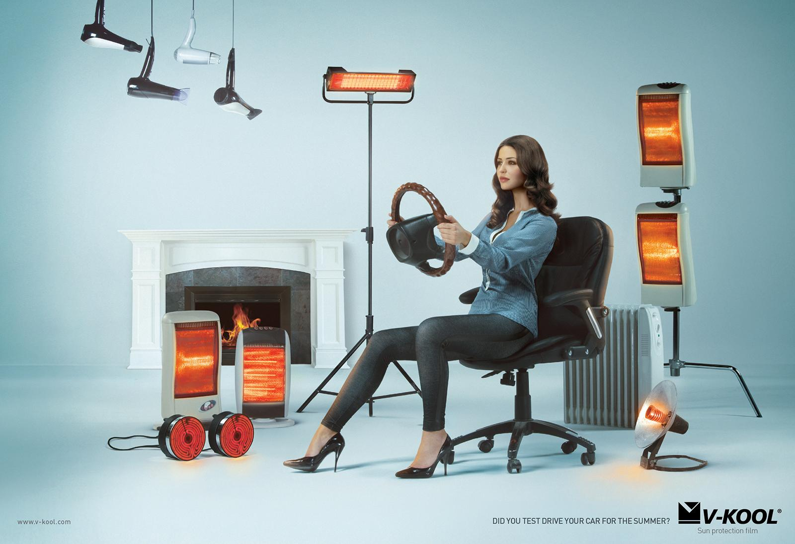 V-Kool Print Ad -  Woman