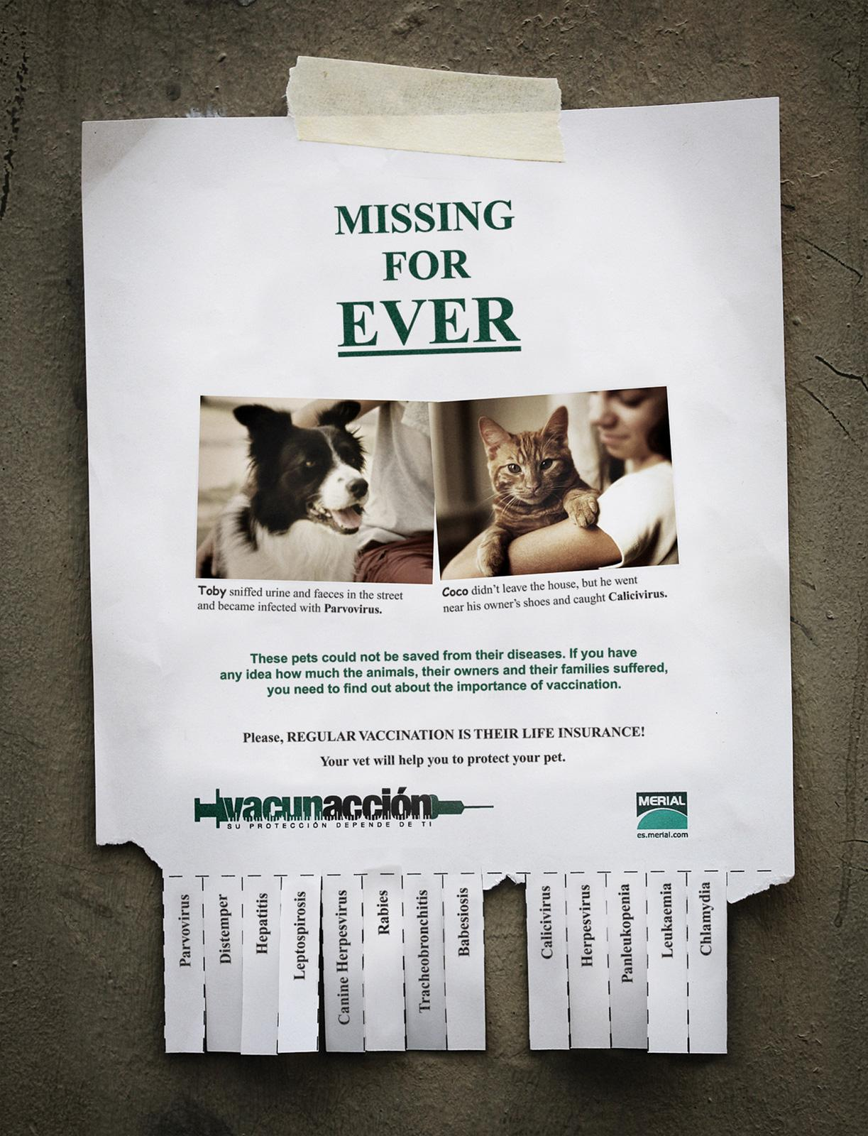 Merial Print Ad -  Missing for Ever