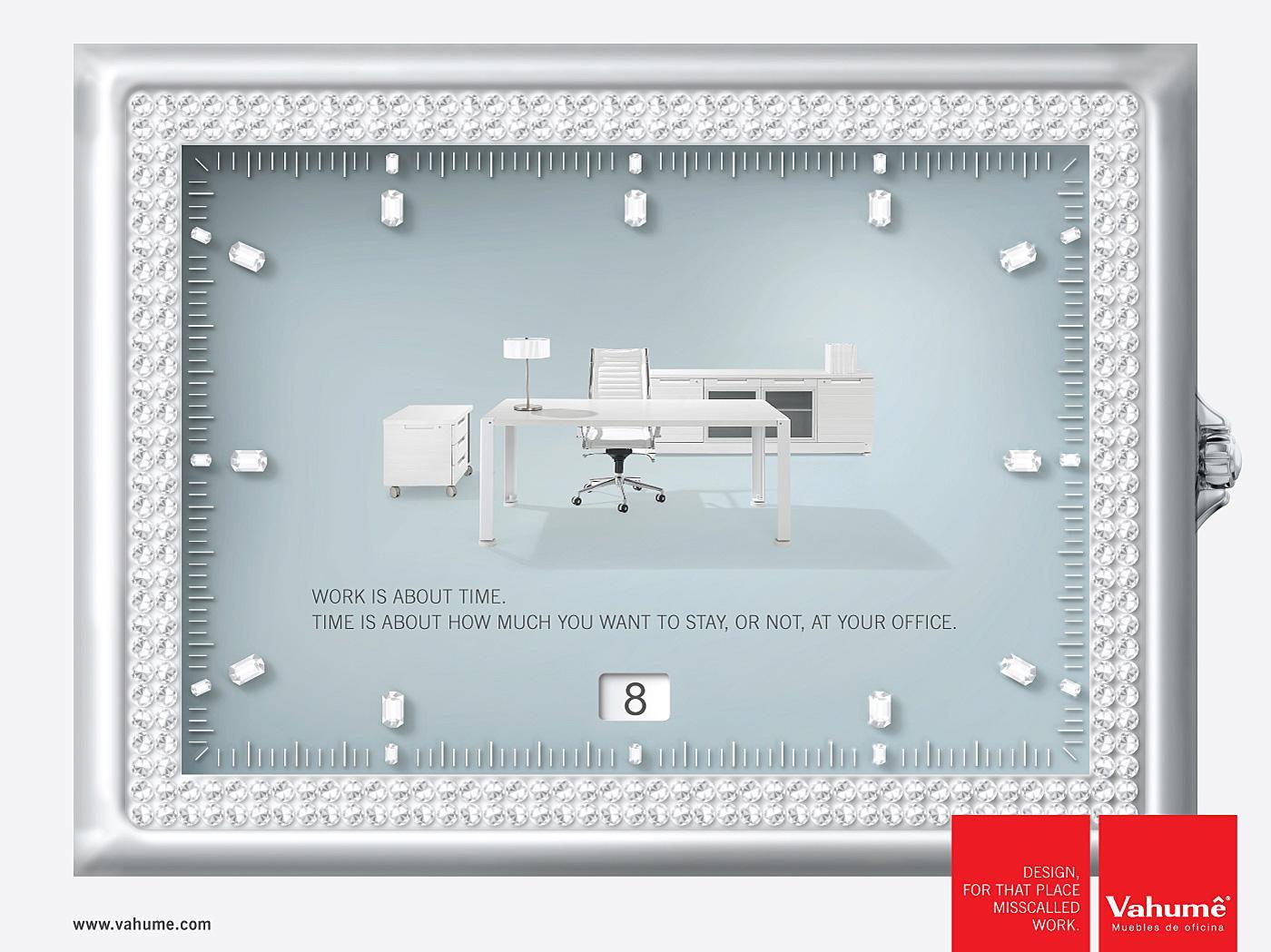 Vahume Print Ad -  Time, 2