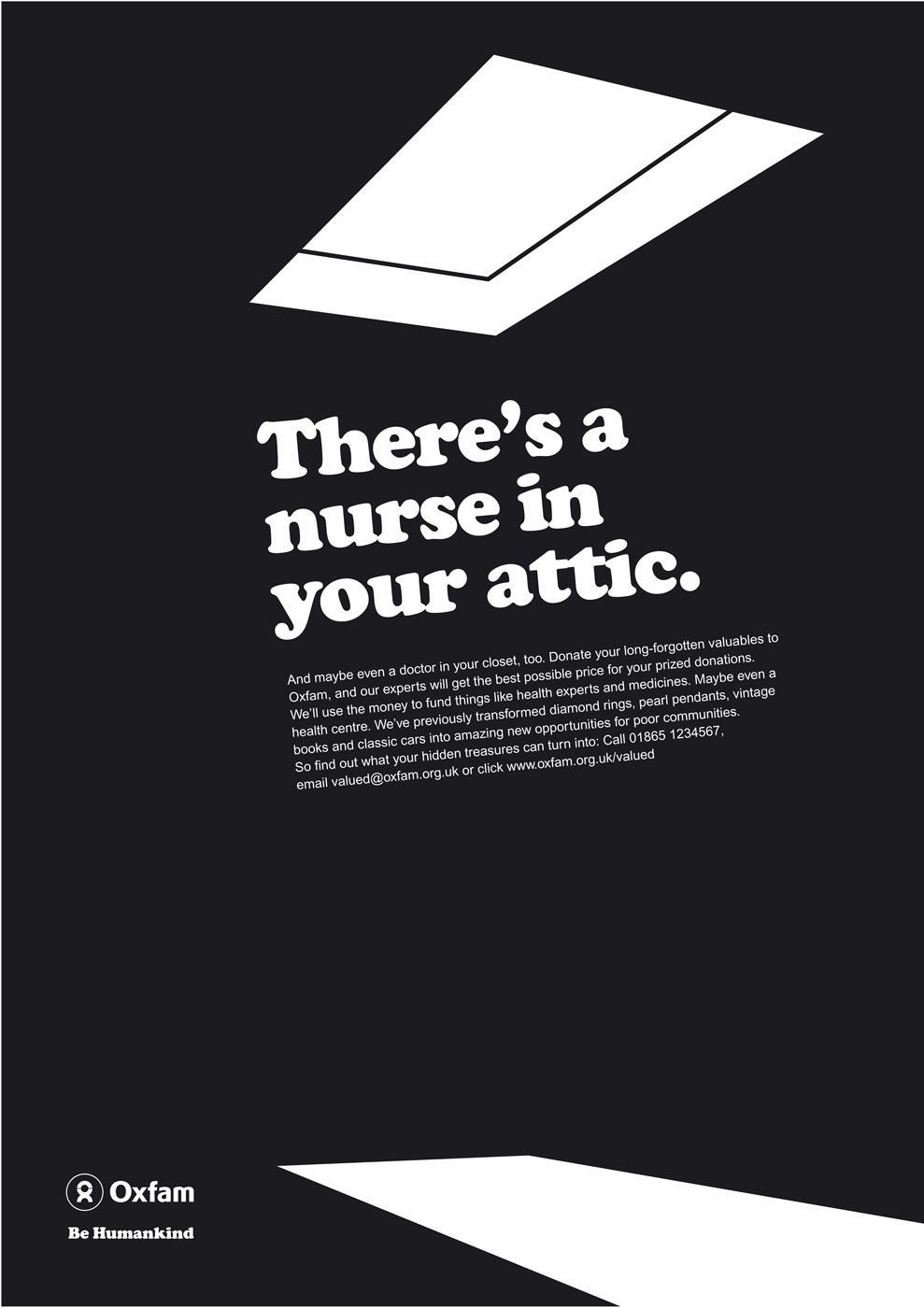 Oxfam Print Ad -  Nurse
