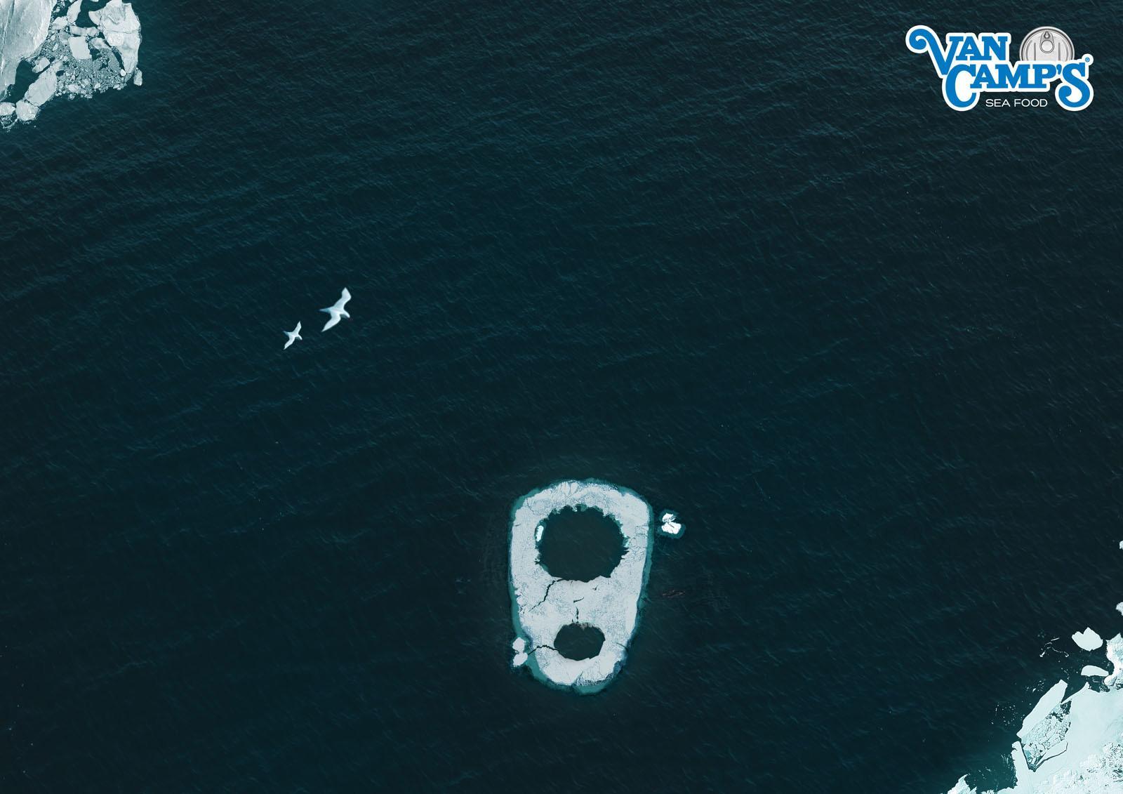 Van Camp's Print Ad -  Iceberg