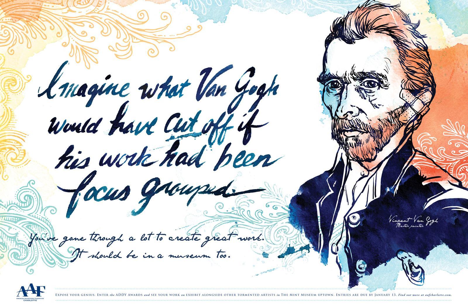 AAF ADDY Awards Print Ad -  Van Gogh