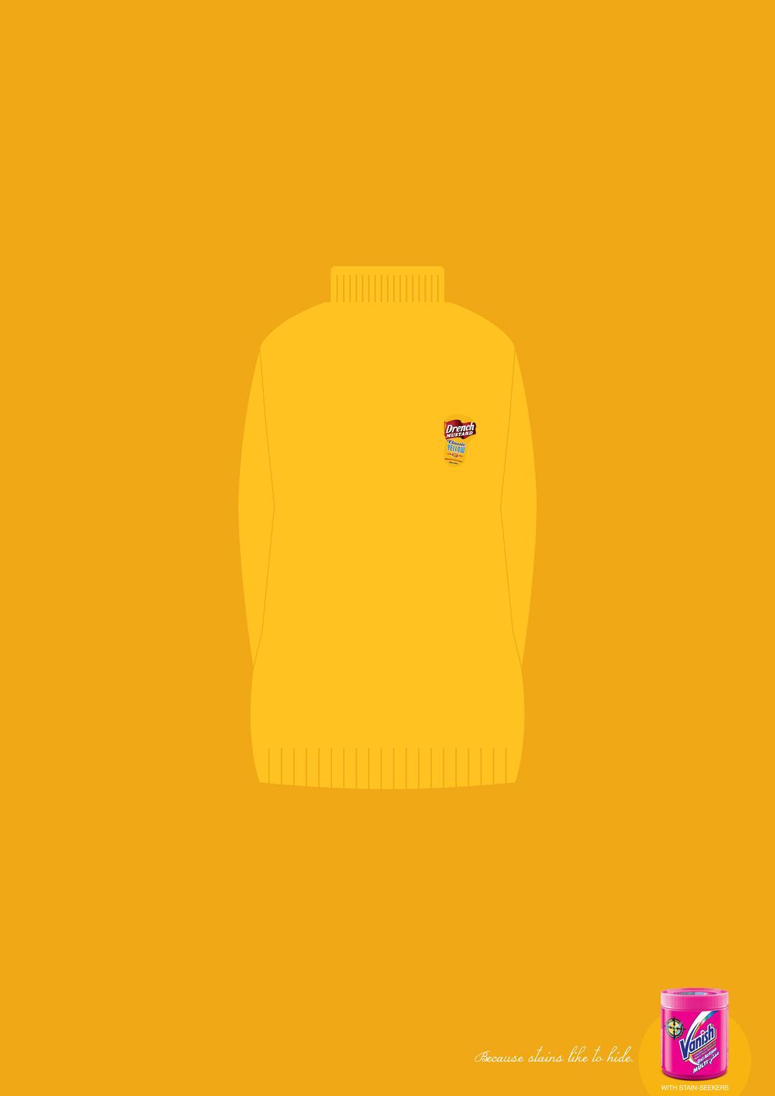 Vanish Print Ad -  Mustard