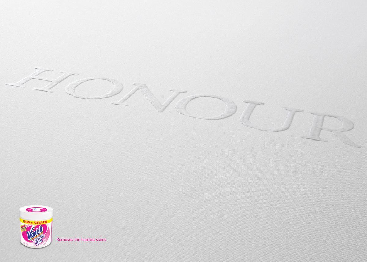 Vanish Print Ad -  Honour