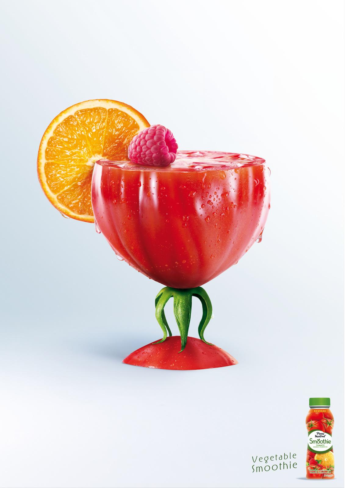 Pierre Martinet Print Ad -  Vegetable smoothie, Tomato