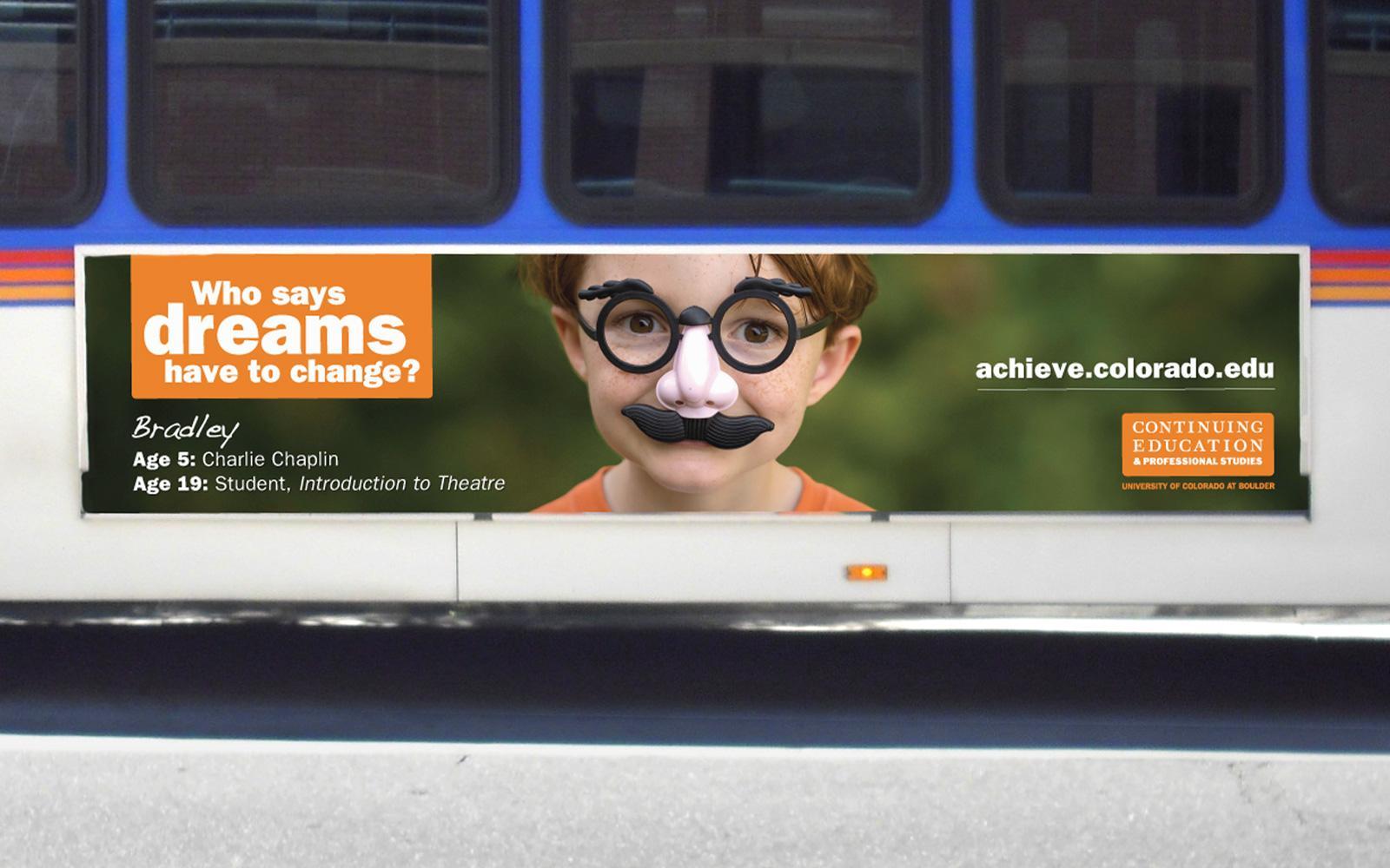 University of Colorado Outdoor Ad -  Bus board, 2
