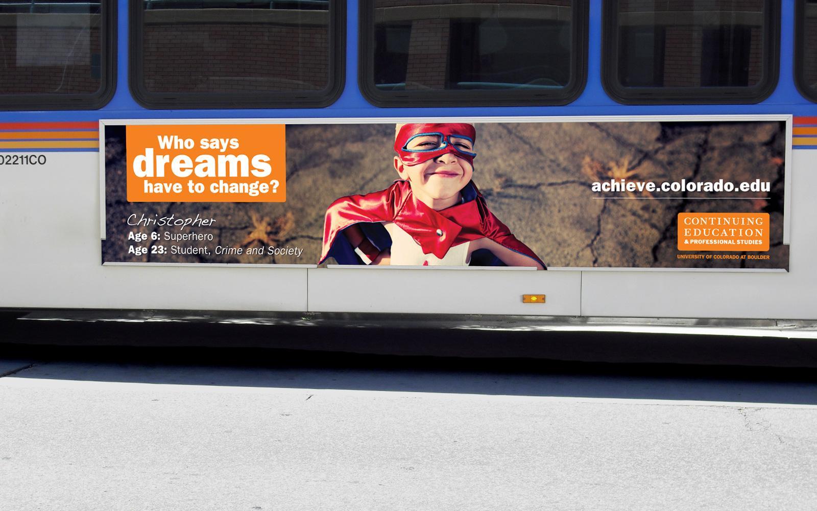 University of Colorado Outdoor Ad -  Bus board, 3