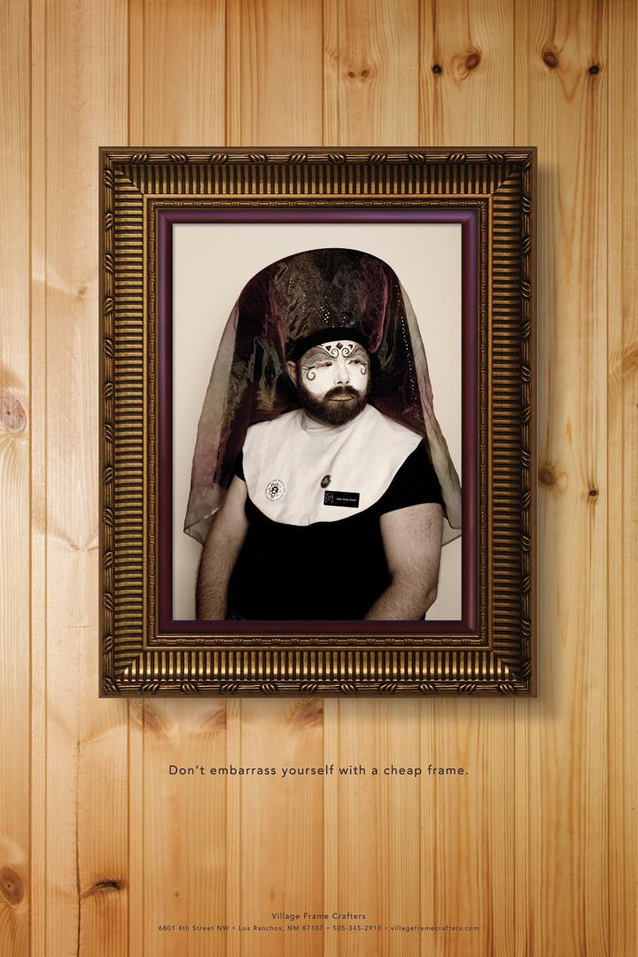 Village Frame Crafters Print Ad -  Embarrass