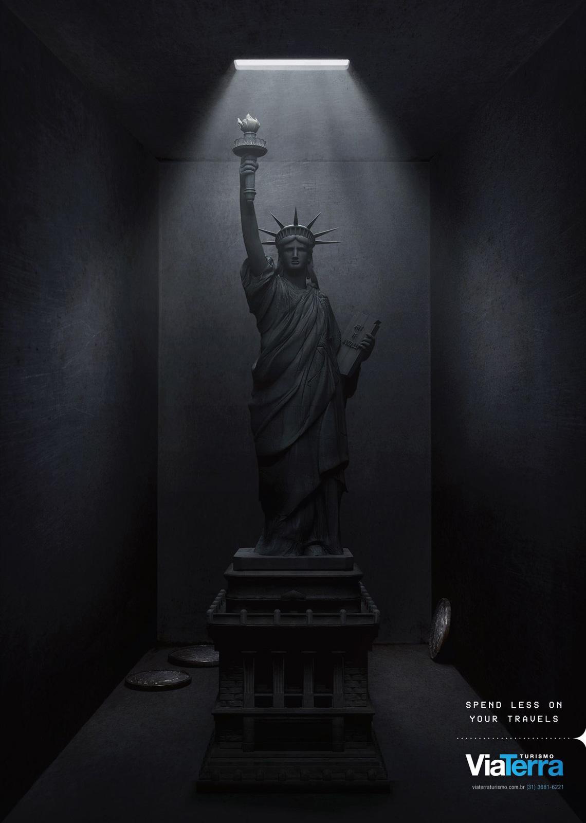 Via Terra Print Ad -  Statue of Liberty