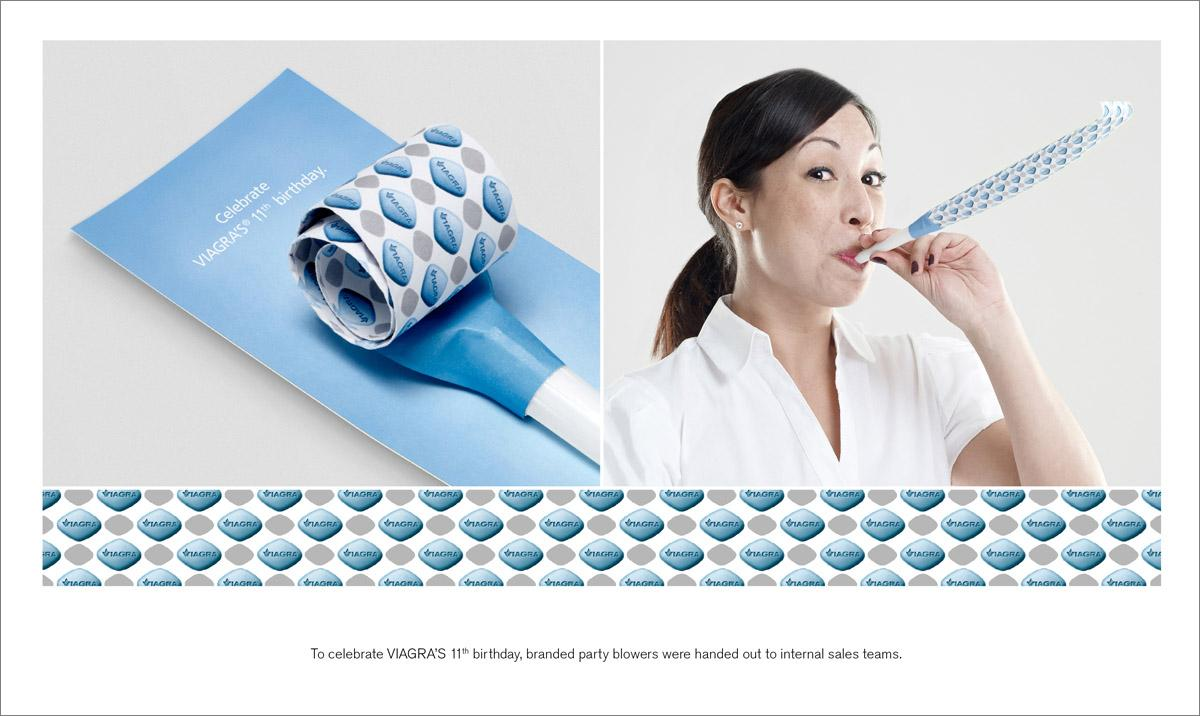 Viagra Direct Ad -  Party blower