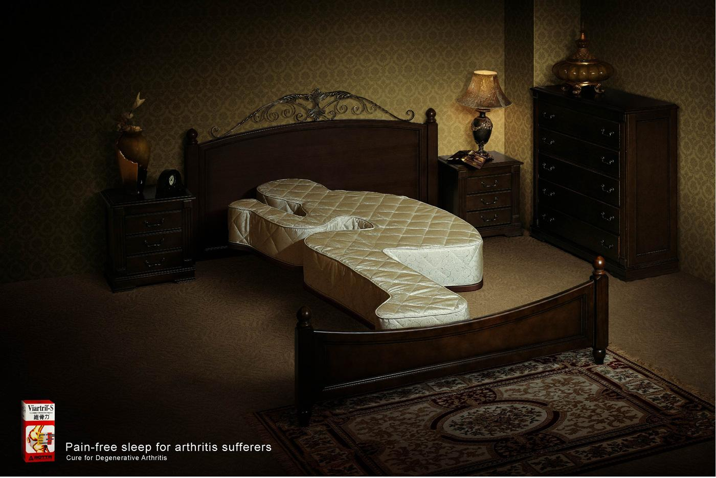 Viartril Print Ad -  Bed, 2