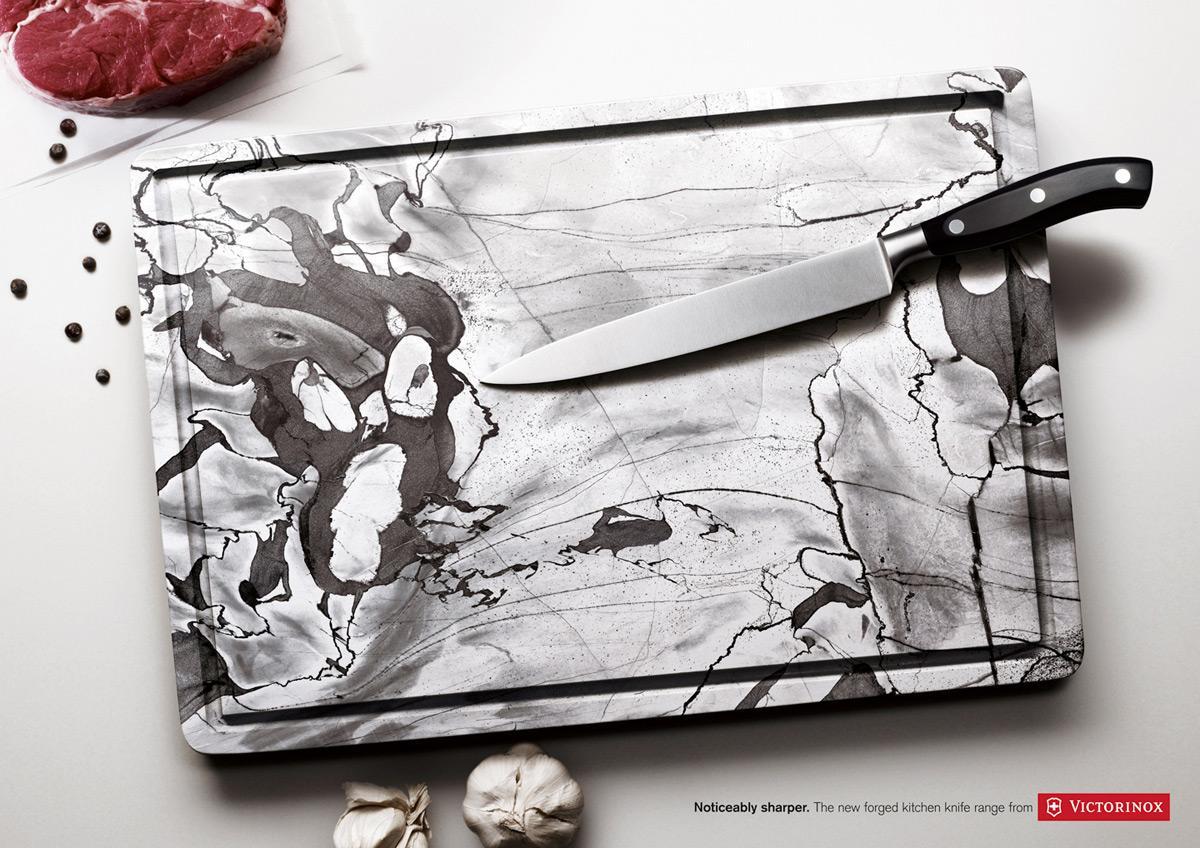 Victorinox Print Ad -  Marble