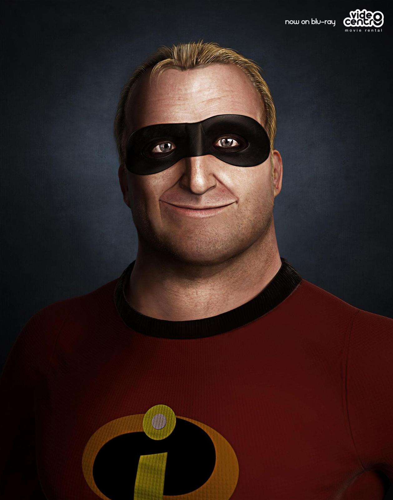 Video Centro Print Ad -  Mr. Incredible