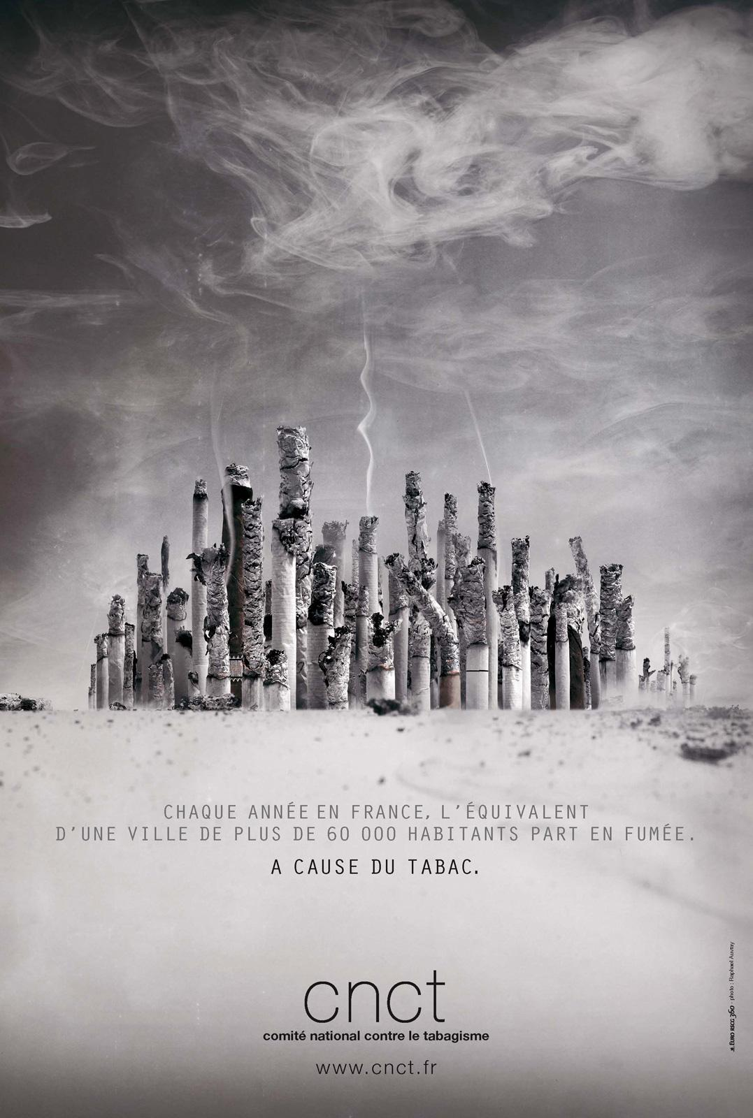 Comité National Contre le Tabagisme Print Ad -  City of Ashes