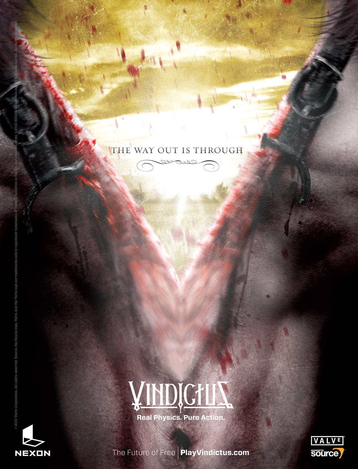 Vindictus Print Ad -  The Way Out is Through