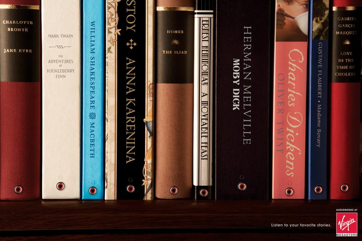 Virgin Print Ad -  Bookshelf