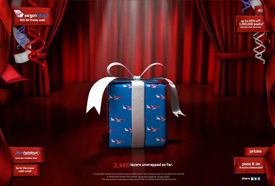 Virgin Digital Ad -  Pass the Parcel