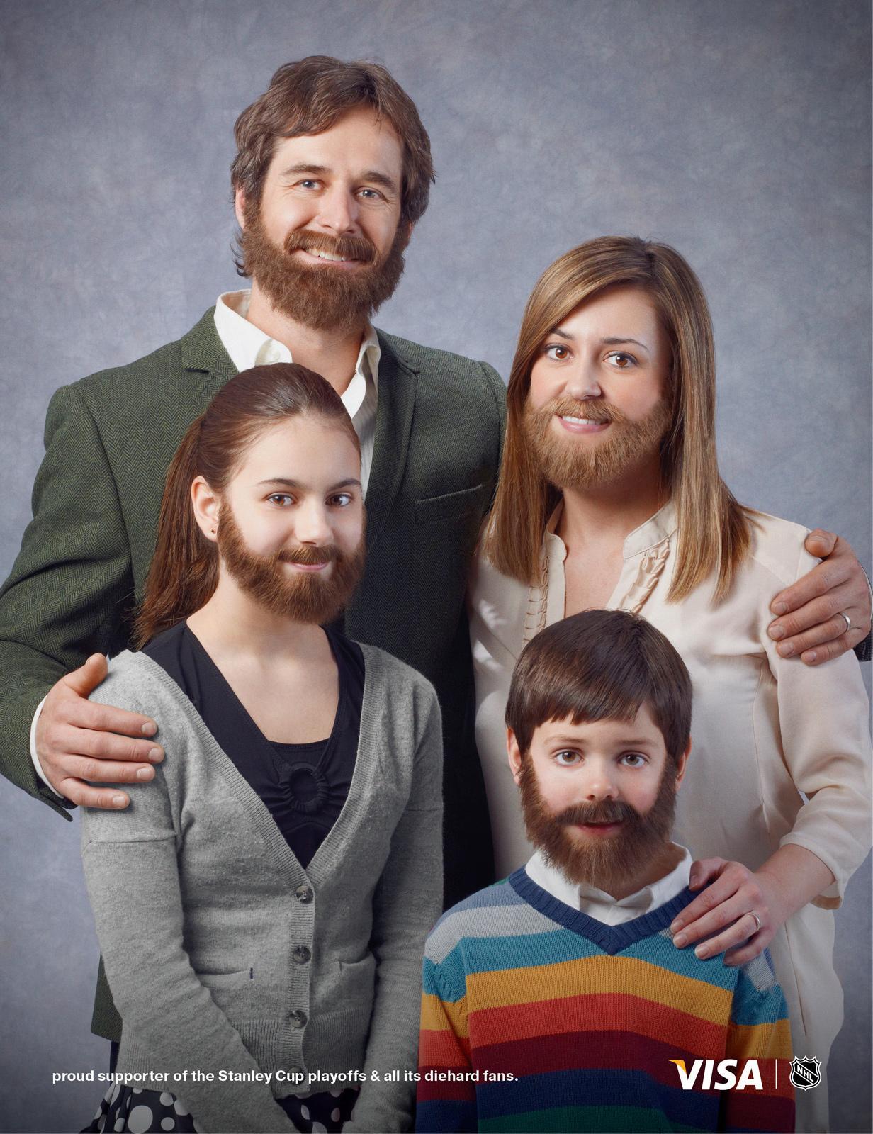 Visa Print Ad -  Stanley Cup playoff beard