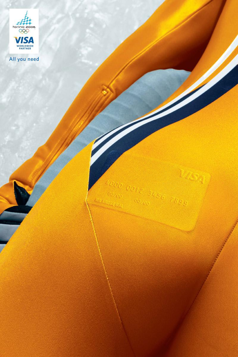 Visa Print Ad -  Orange