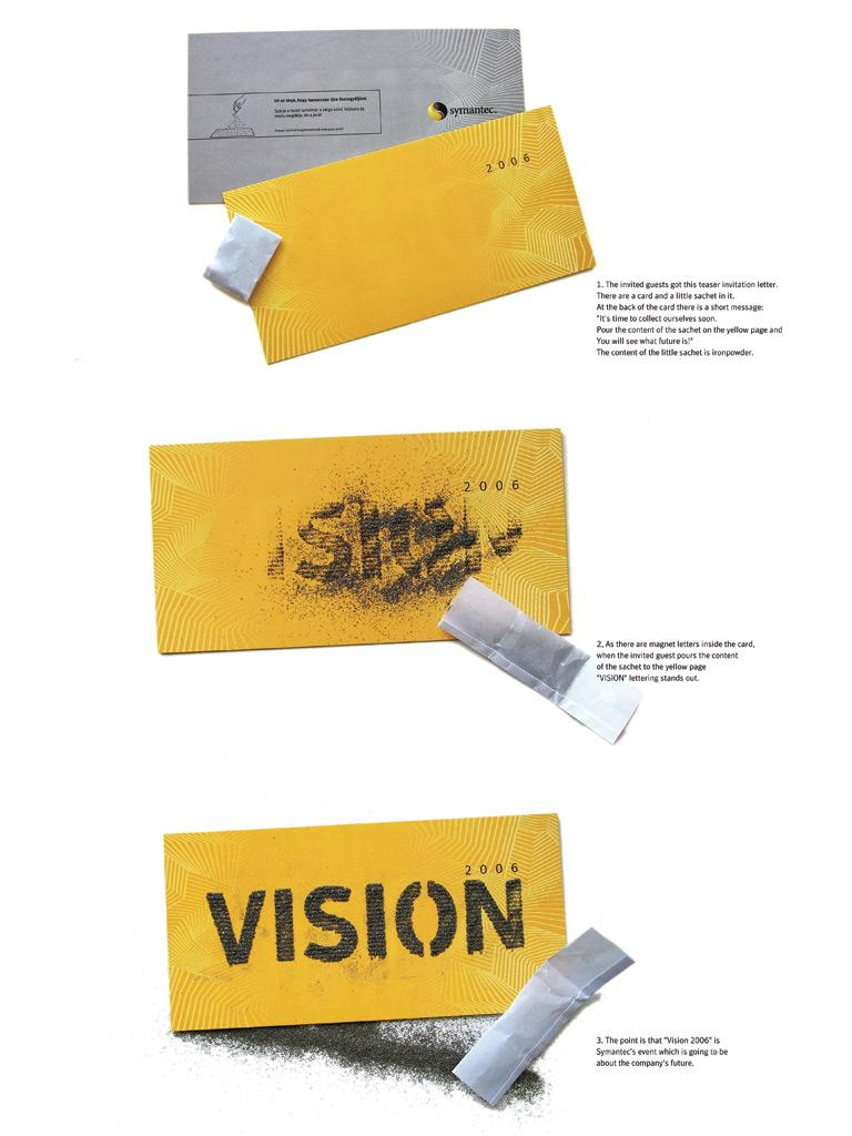 Symantec Ambient Ad -  Invitation card, Vision