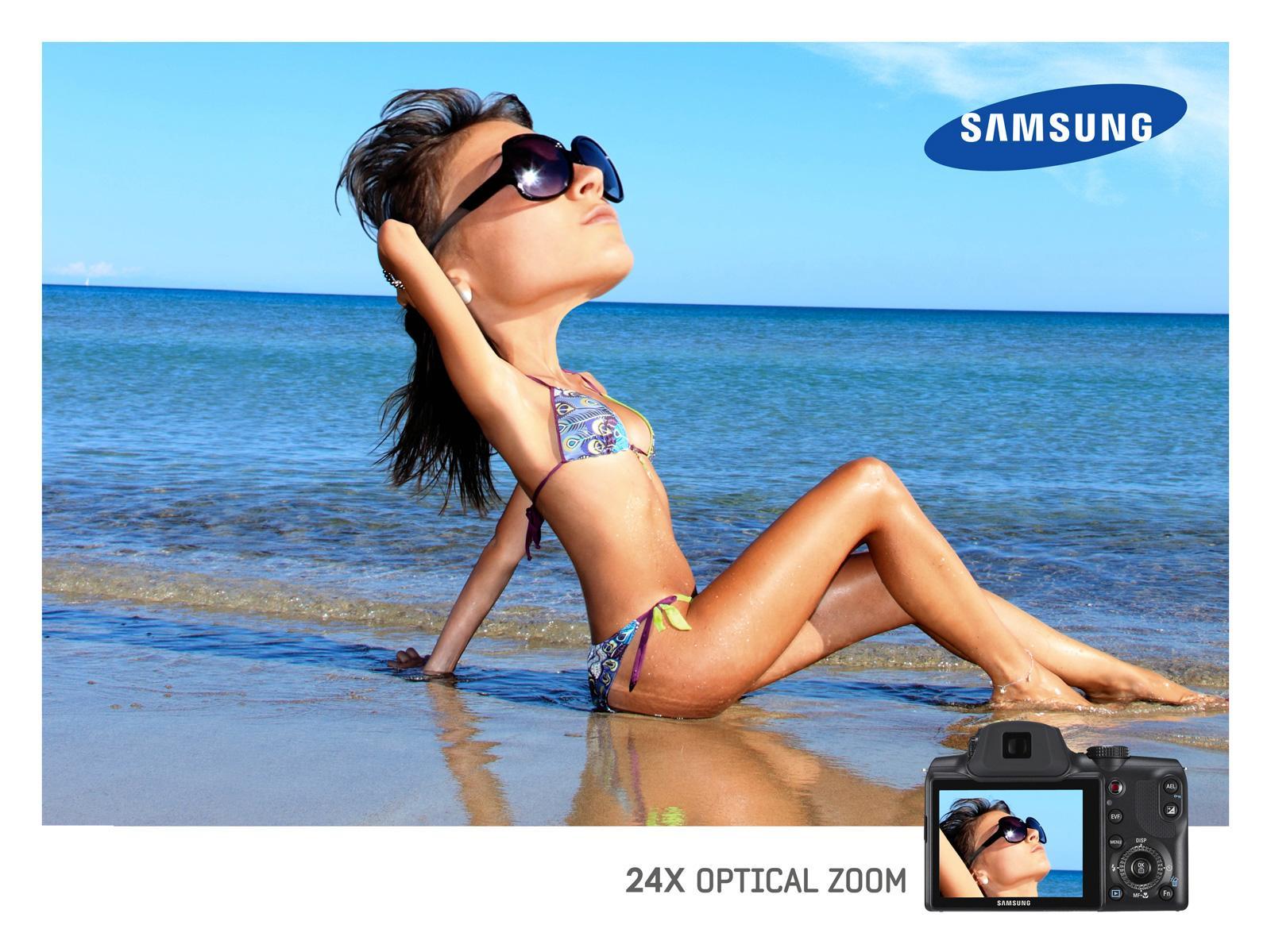 Samsung Print Ad -  Optical Zoom, Beach