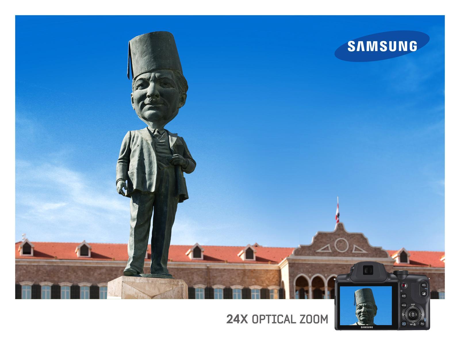 Samsung Print Ad -  Optical Zoom, Statue