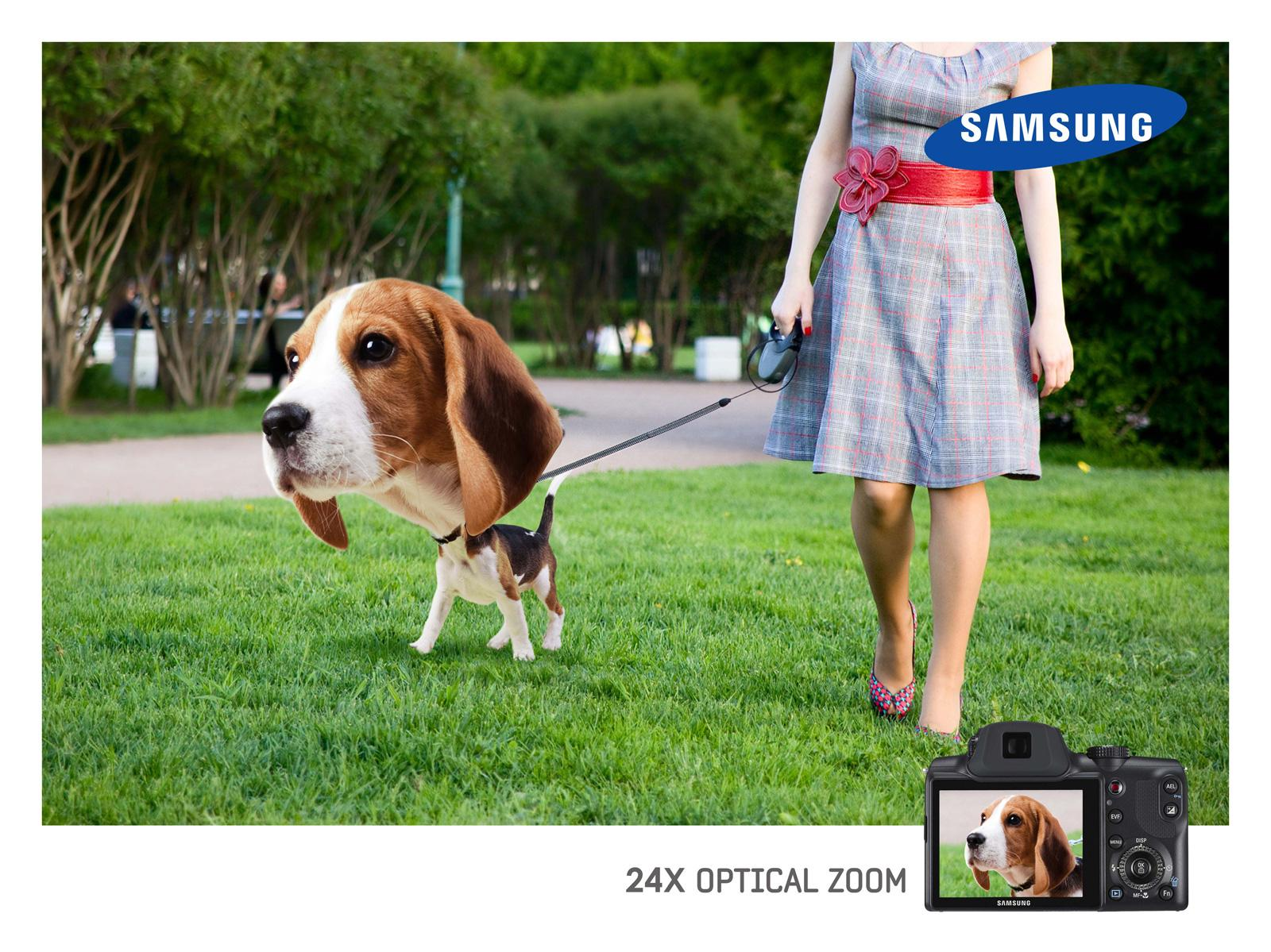 Samsung Print Ad -  Optical Zoom, Dog