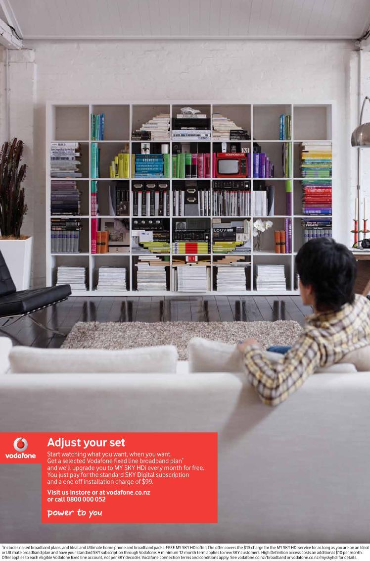Vodafone Print Ad -  Bookcase