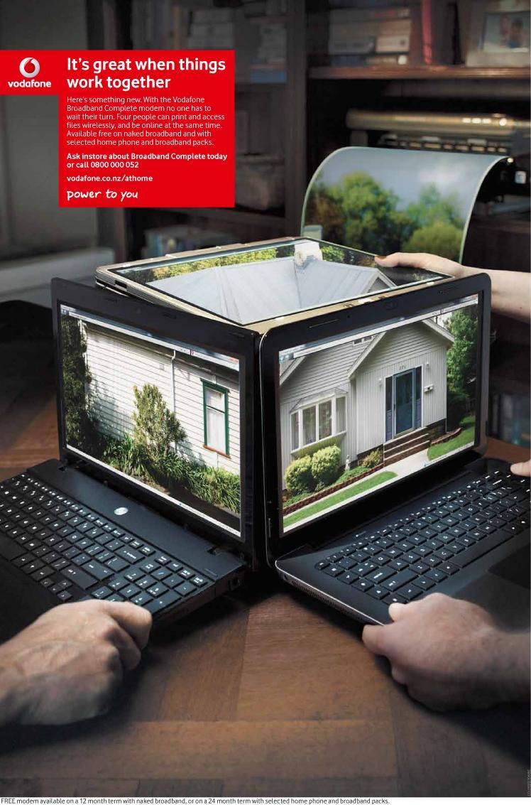 Vodafone Print Ad -  Laptop