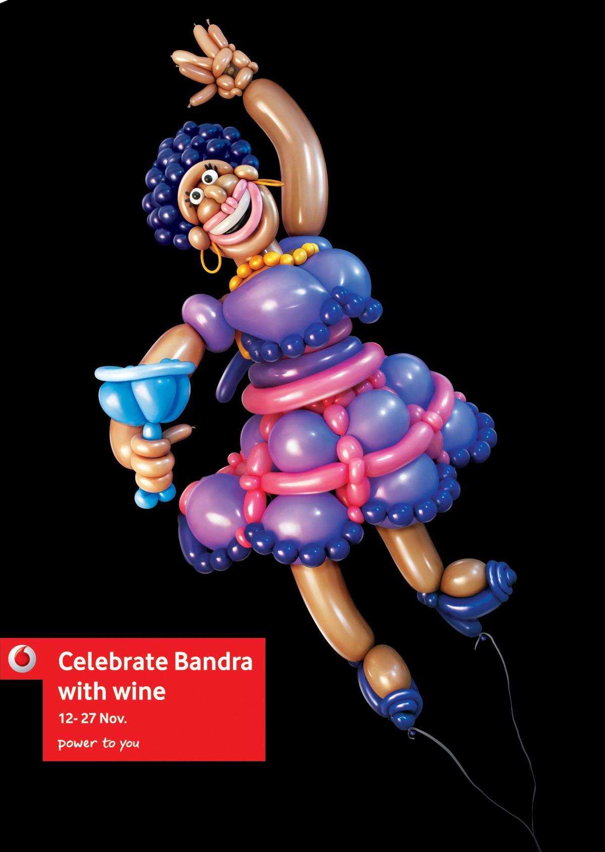 Vodafone Print Ad -  Celebrate Bandra, Drunk Lady