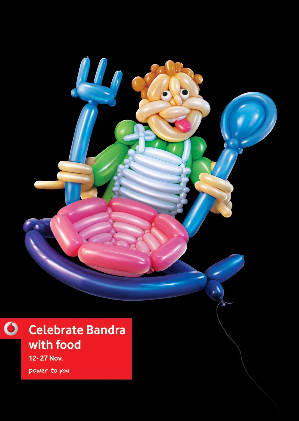 Vodafone Print Ad -  Celebrate Bandra, Food fest