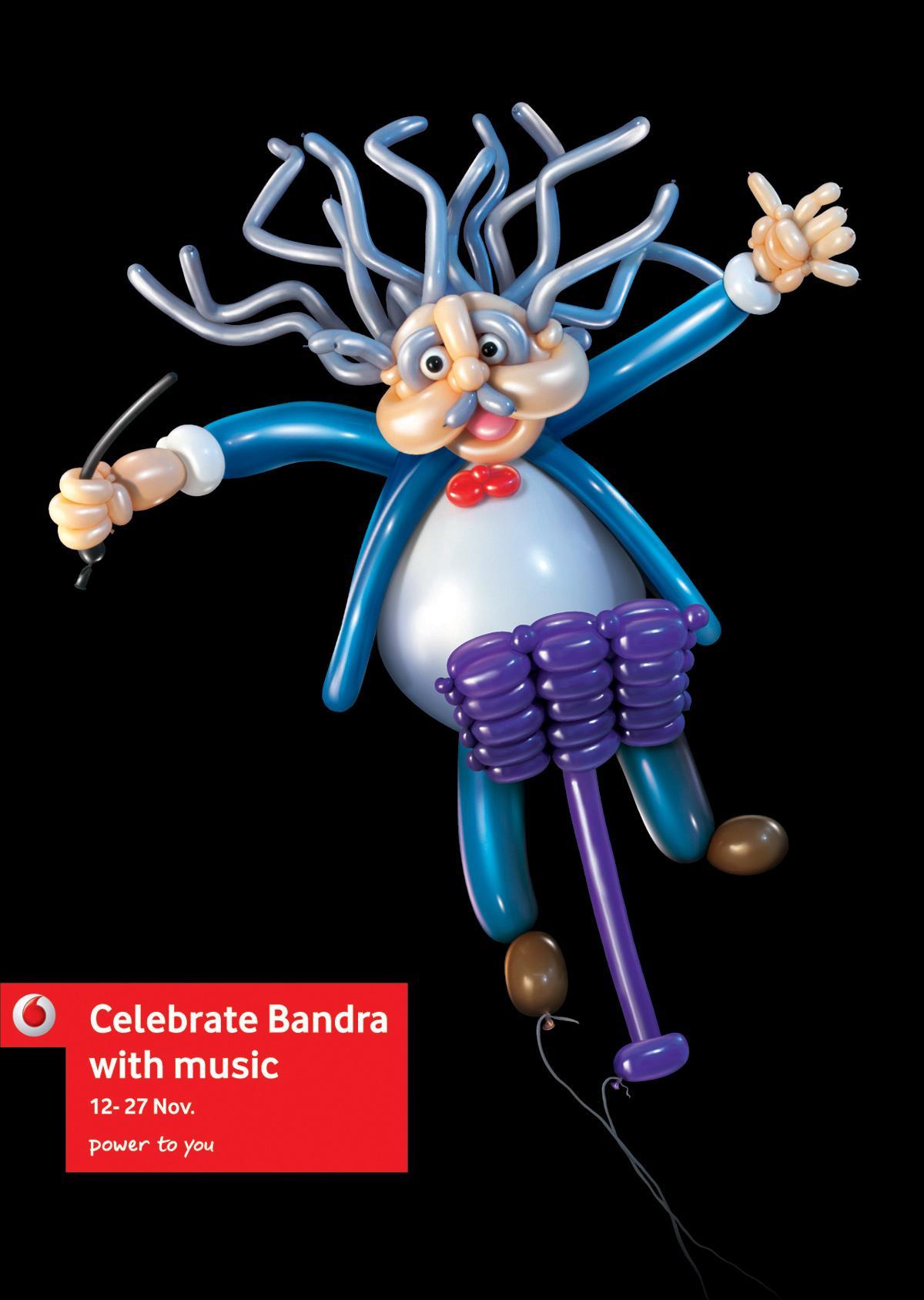 Vodafone Print Ad -  Celebrate Bandra, Conductor