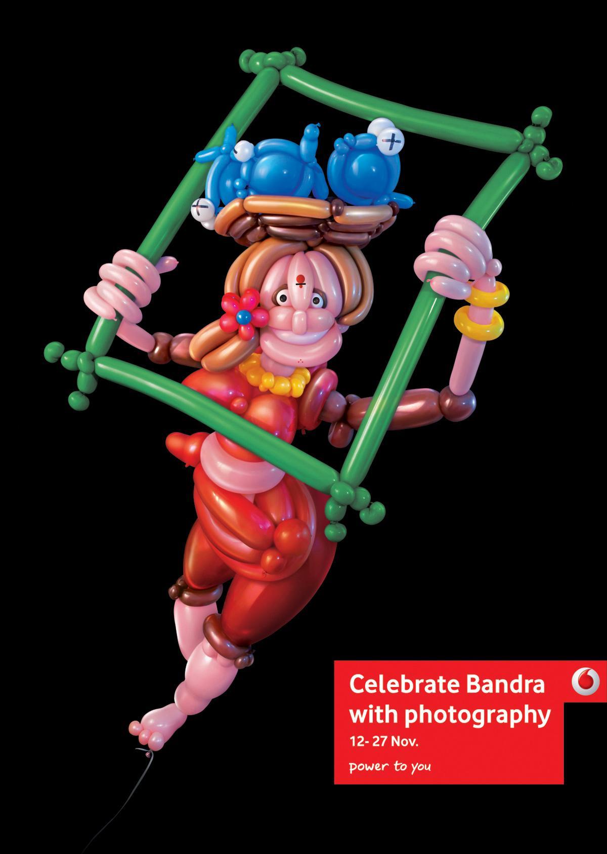 Vodafone Print Ad -  Celebrate Bandra, Photo frame