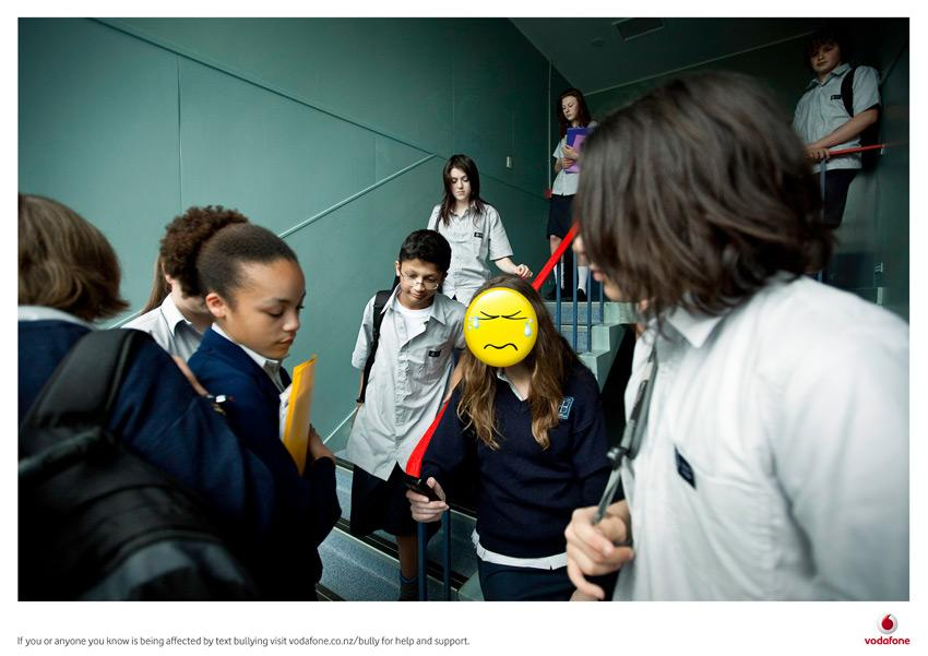 Vodafone Print Ad -  Text bullying, 2