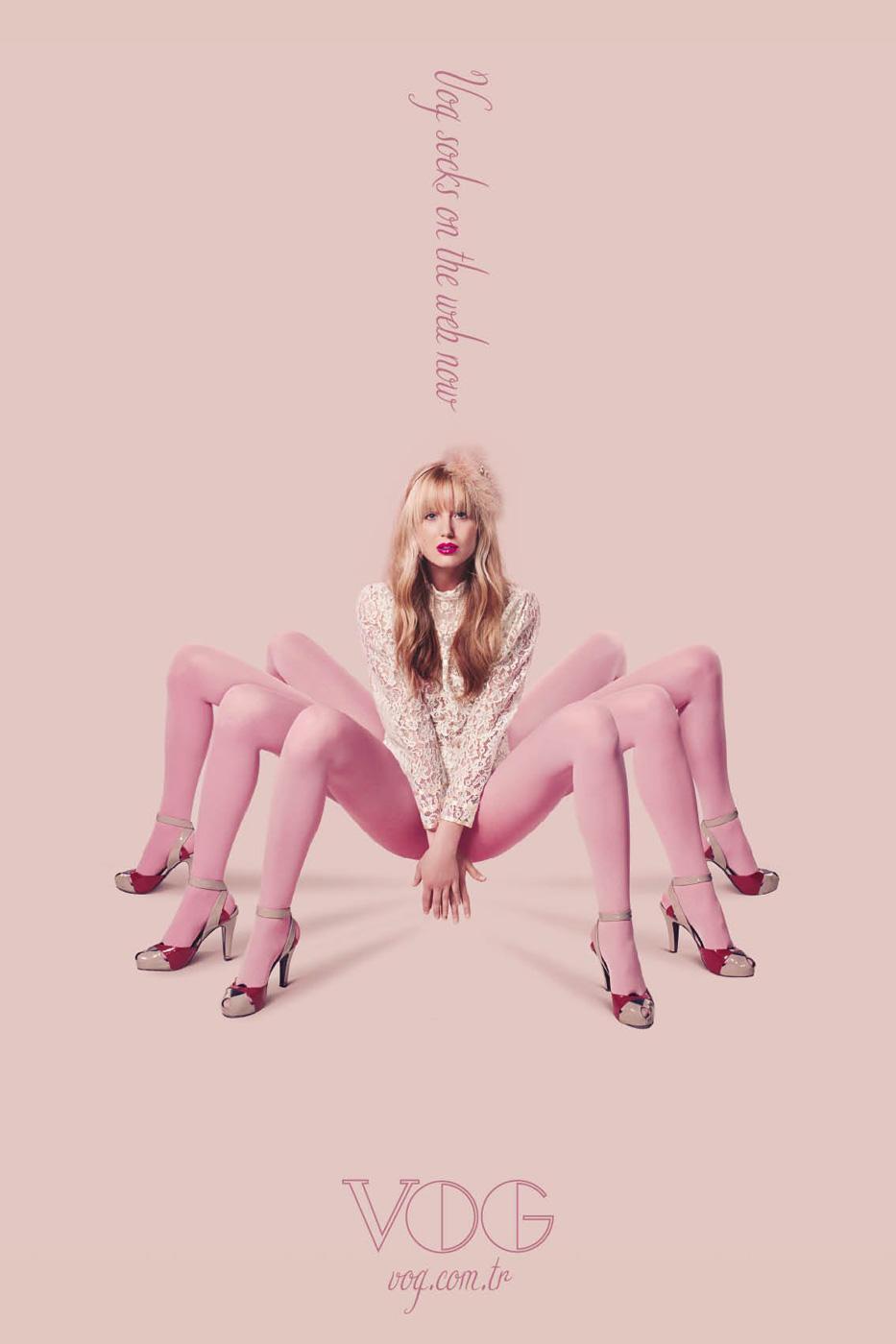 Vog Print Ad -  Pink