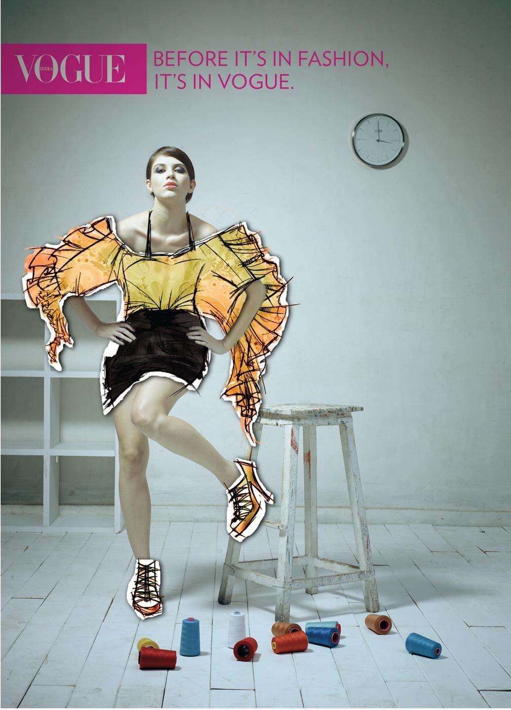 Vogue Print Ad -  Girl, 2