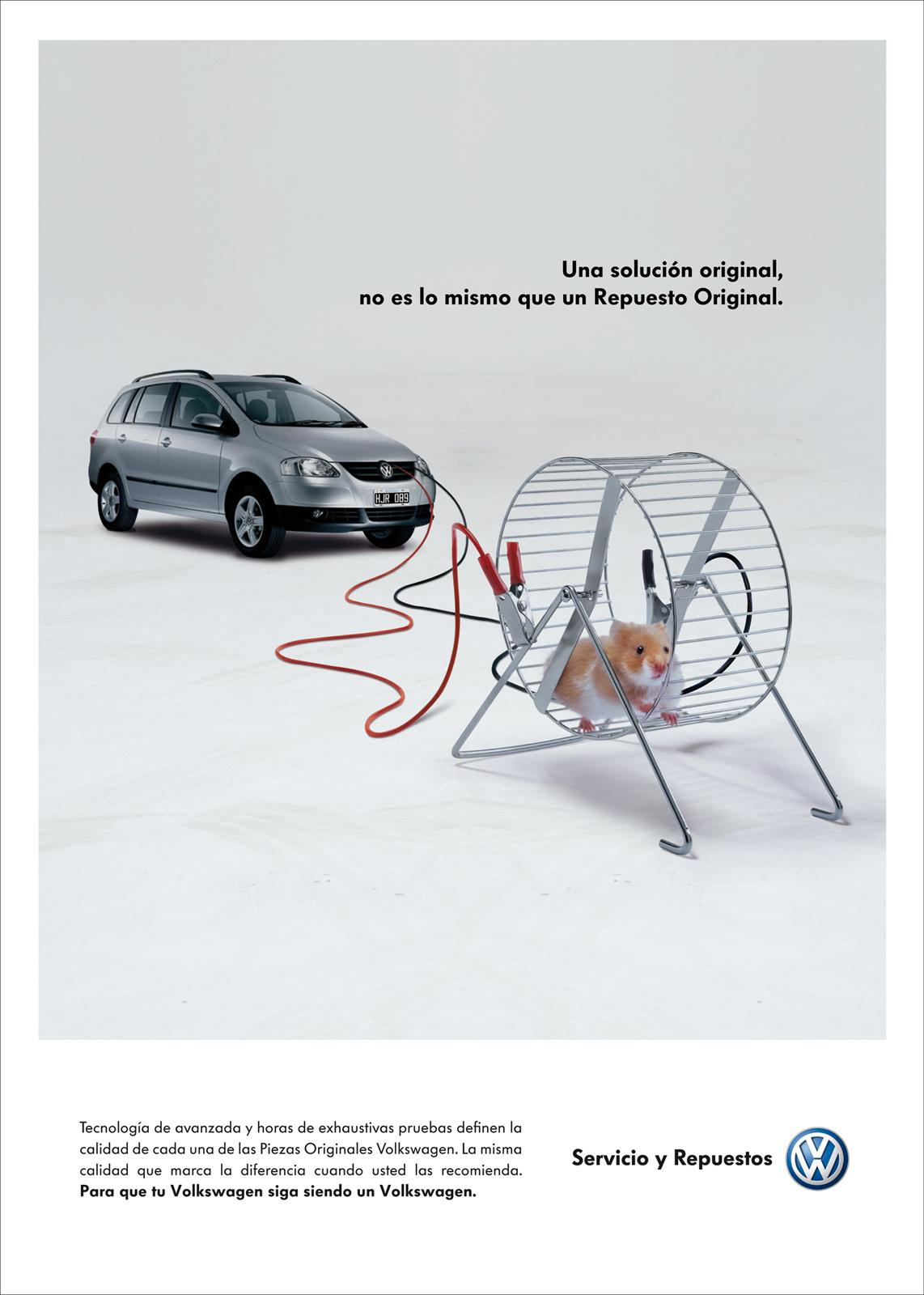 Volkswagen Print Ad -  Hamster