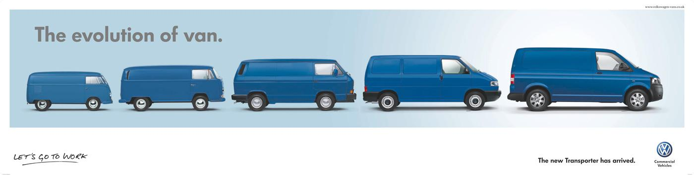 Volkswagen Print Ad -  Evolution