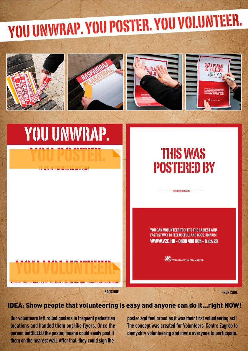 Volunteer's Centre Zagreb Print Ad -  You unwrap. You poster. You volunteer