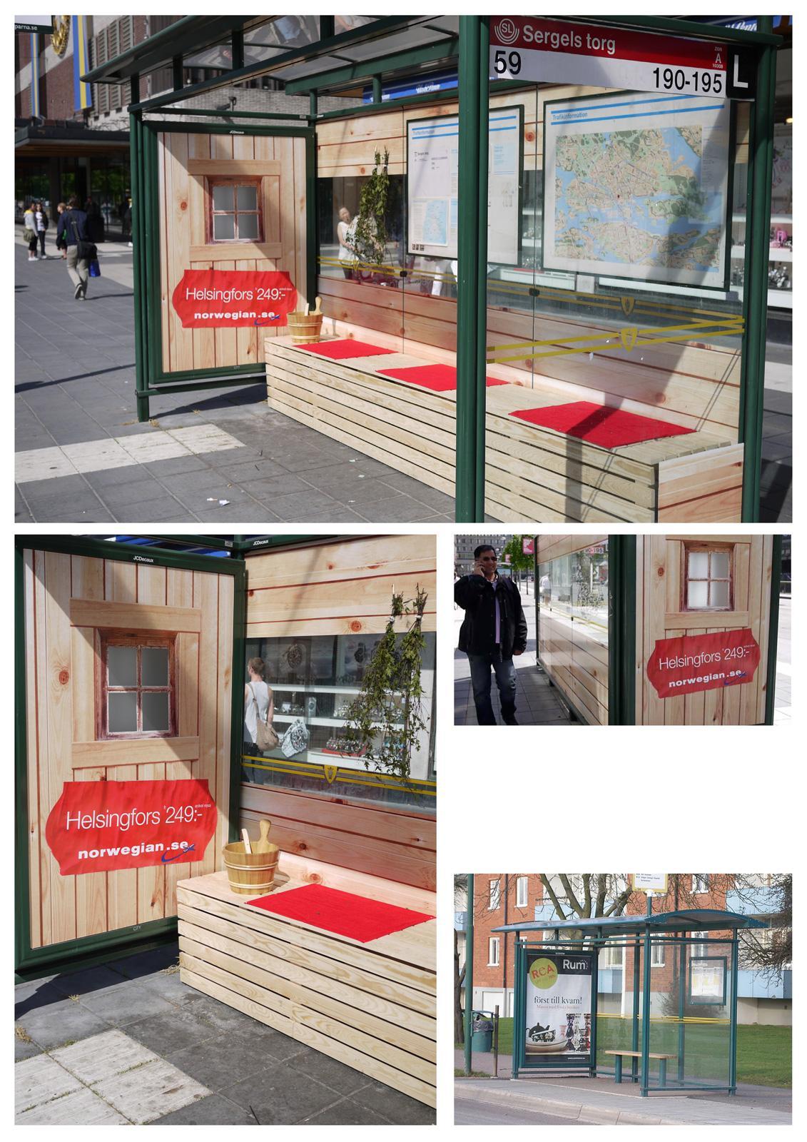Norwegian Ambient Ad -  New Destinations, The Sauna