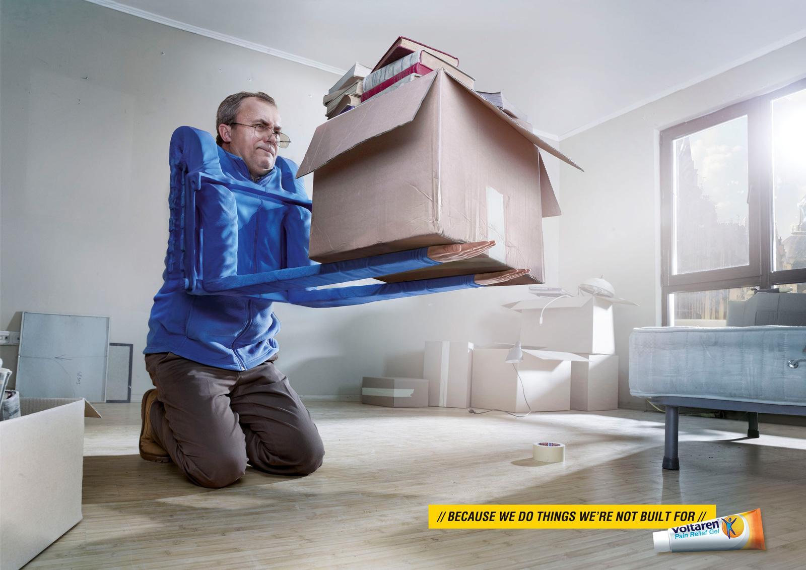Voltaren Print Ad -  Forklift